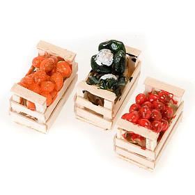 Cassetta cibo assortito presepe terracotta s2