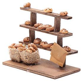 Mesa con pan para el belén madera y terracota s2