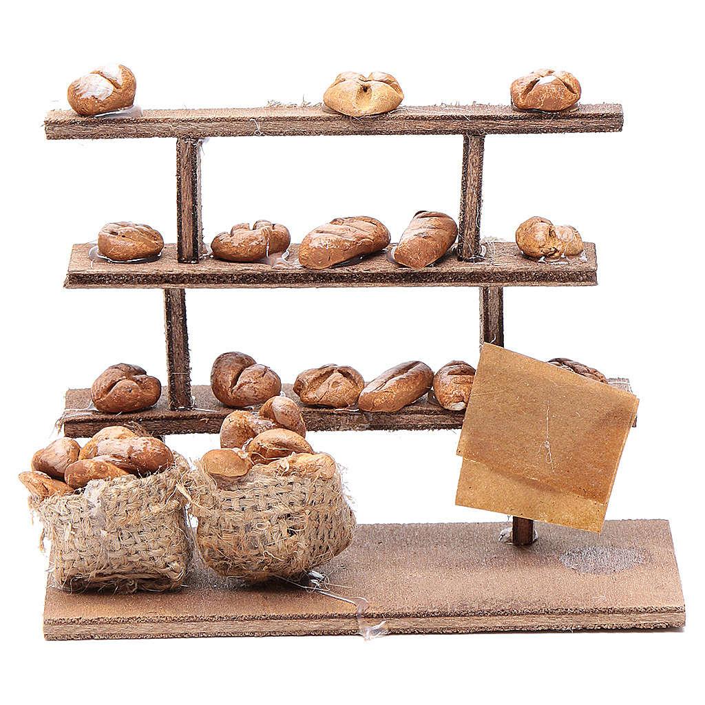 Banco pane per presepe legno terracotta 4