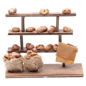 Banco pane per presepe legno terracotta s1