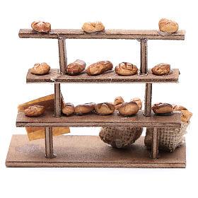 Banco pane per presepe legno terracotta s4