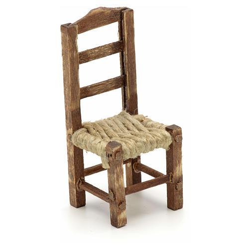 Sedia legno presepe fai da te h 4.5 cm 1