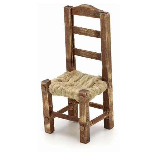 Sedia legno presepe fai da te h 4.5 cm 2