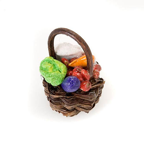 Cesto legno frutta e verdura in terracotta 1