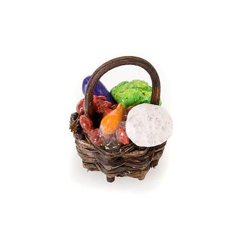 Cesto legno frutta e verdura in terracotta 2