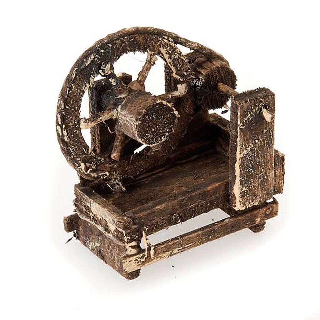 Spinnrad aus Holz für Krippe 4