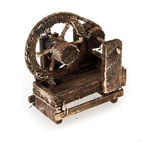 Spinnrad aus Holz für Krippe s1