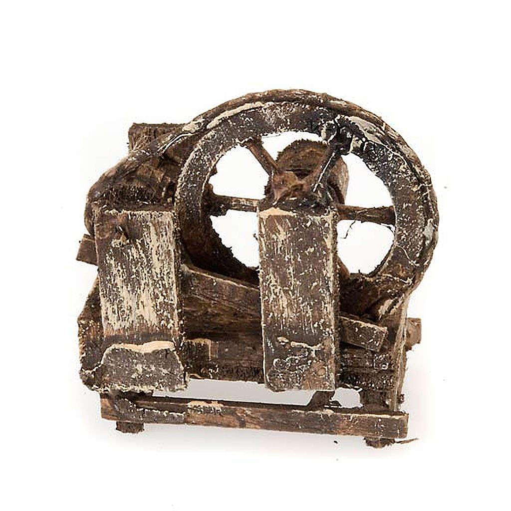 Rueda campesina de madera para el pesebre 4