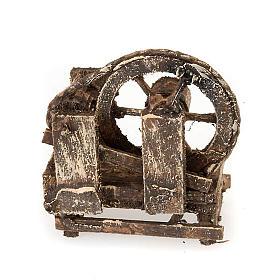 Rueda campesina de madera para el pesebre s2