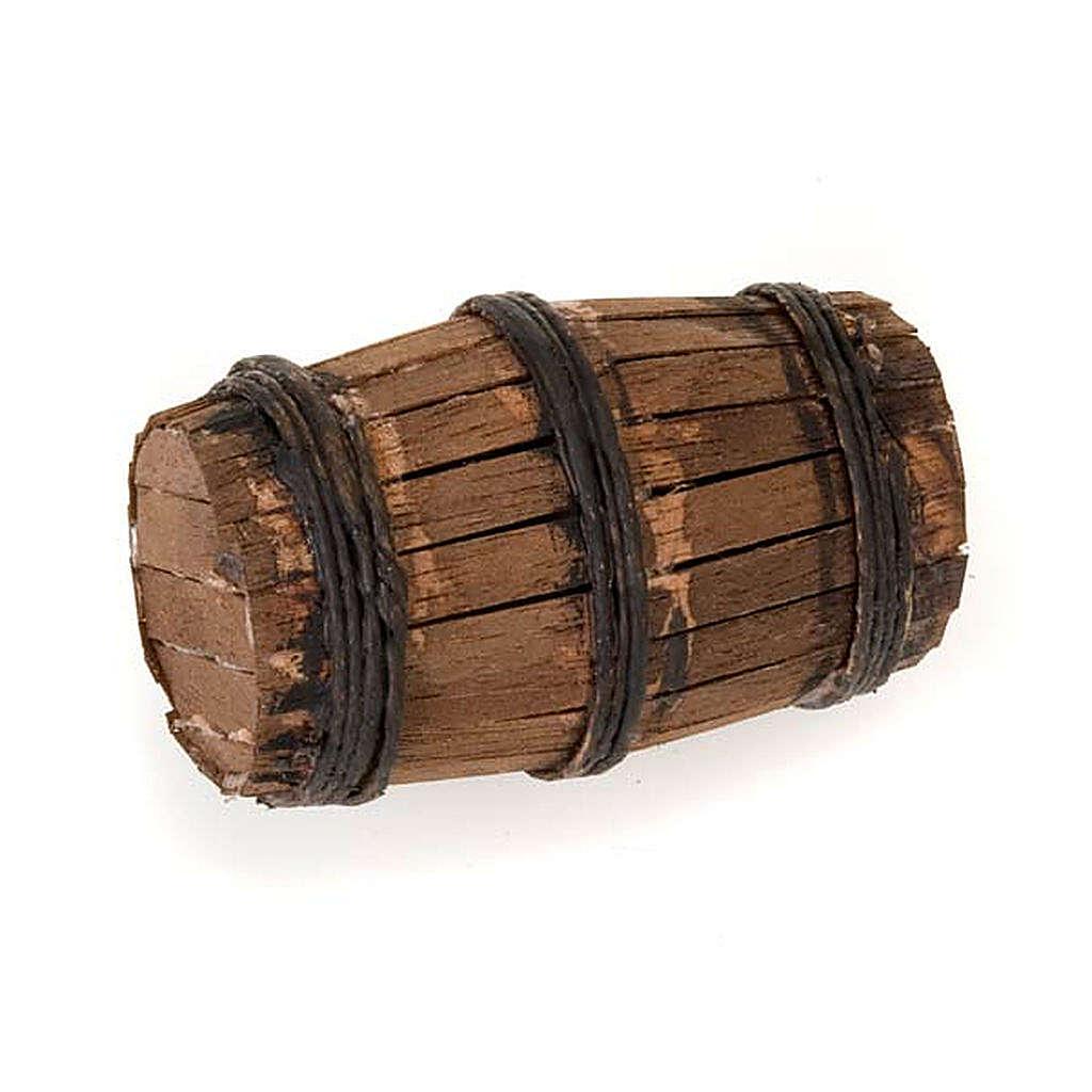 Décor crèche tonneau en bois 4