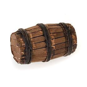 Décor crèche tonneau en bois s1