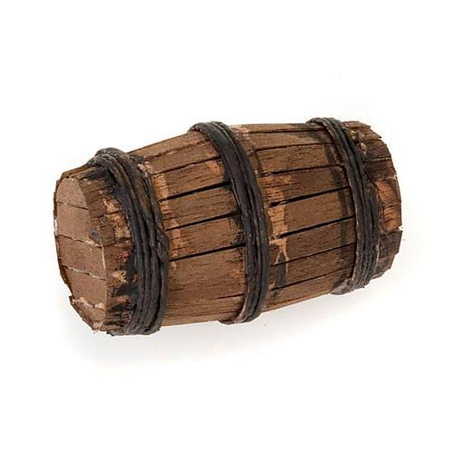 Décor crèche tonneau en bois 1