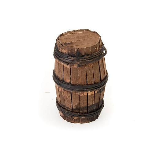 Décor crèche tonneau en bois 2