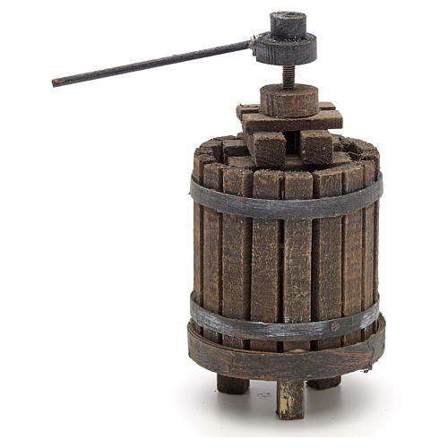Neapolitan set accessory winepress in wood 3