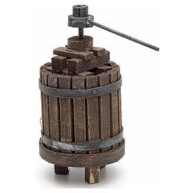 Décor crèche pressoir à vin bois s4