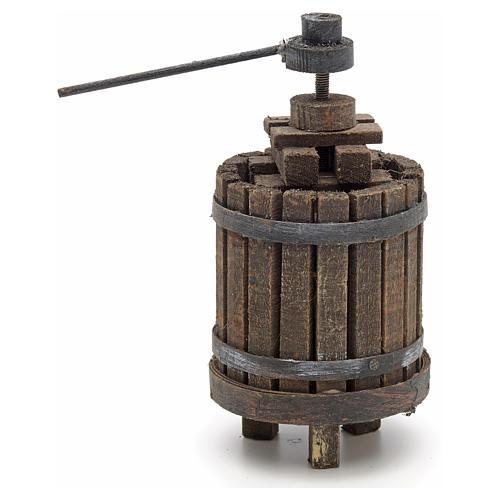 Décor crèche pressoir à vin bois 3