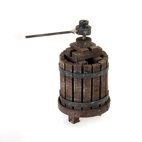 Décor crèche pressoir à vin bois 1