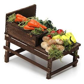 Mesa de madera con verduras de terracota. s3