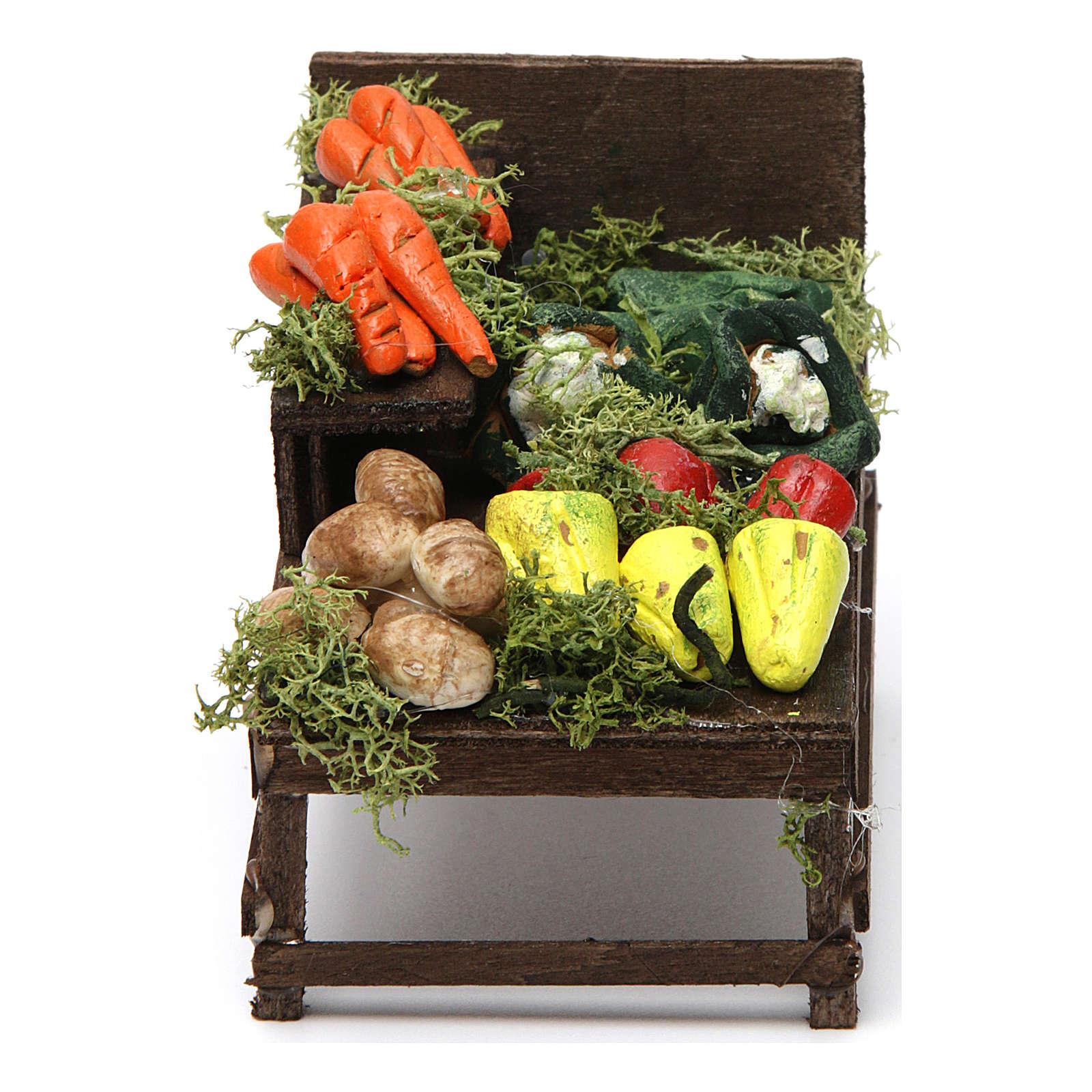 Banchetto legno verdura terracotta presepe 4