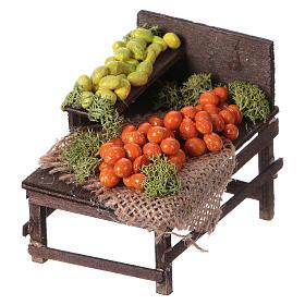 Banchetto legno agrumi terracotta presepe s2