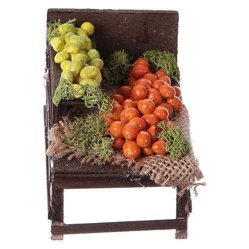 Banchetto legno agrumi terracotta presepe 1