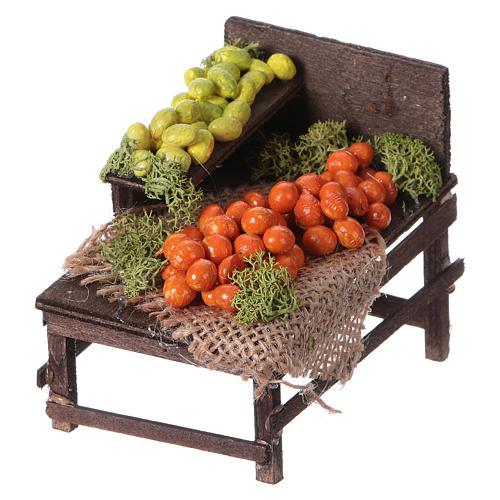 Banchetto legno agrumi terracotta presepe 2
