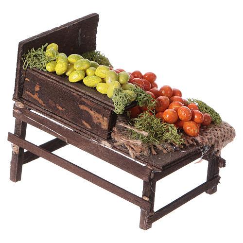 Banchetto legno agrumi terracotta presepe 3