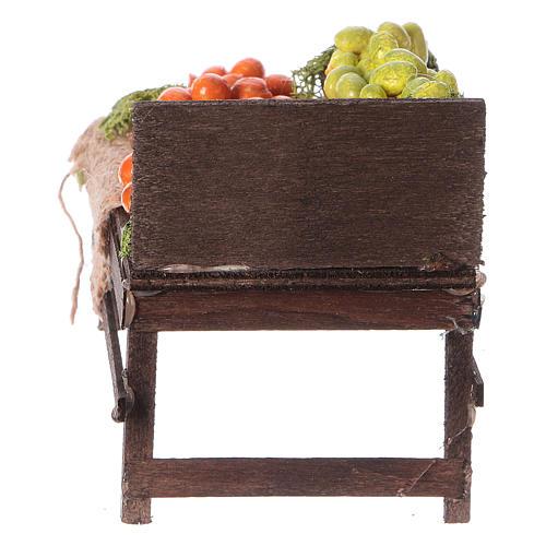 Banchetto legno agrumi terracotta presepe 4