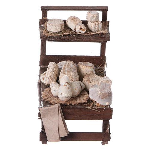 Stand mit Käse aus Holz für Krippe 1