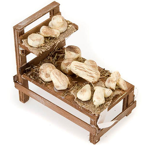 Mesa madera con quesos terracota belén 2