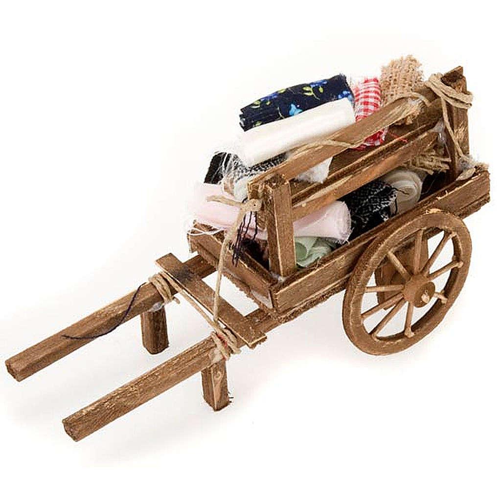 Carrito de  madera con tejidos belén bricolaje 4