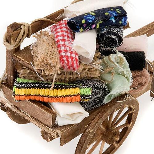 Décor crèche chariot bois avec tissus 3