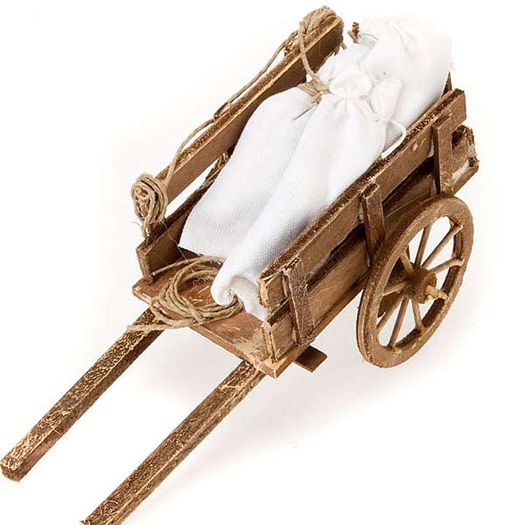 Accessoire crèche chariot avec sacs terre cuite 4