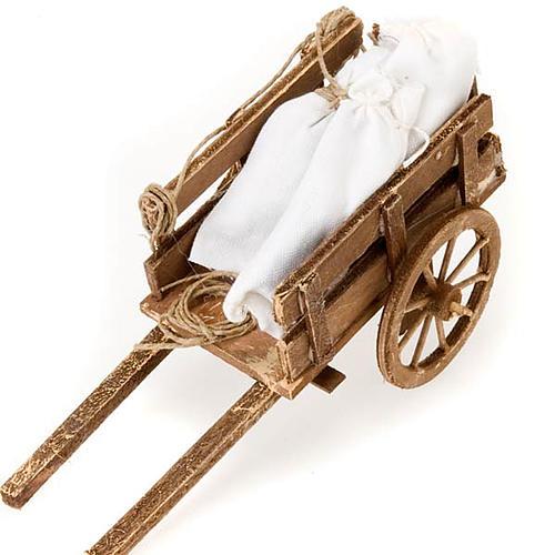 Accessoire crèche chariot avec sacs terre cuite 2