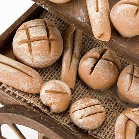 Carrinho madeira pão terracota presépio s2