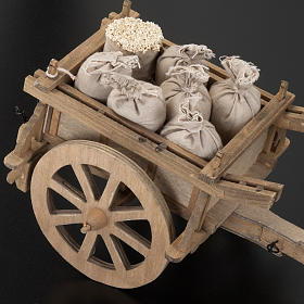Carro legno per presepe 12 x 15 cm s3