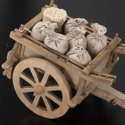 Carro legno per presepe 12 x 15 cm 3