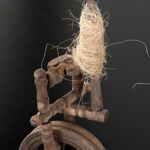 Spinnrad für Krippe 10x5cm 3