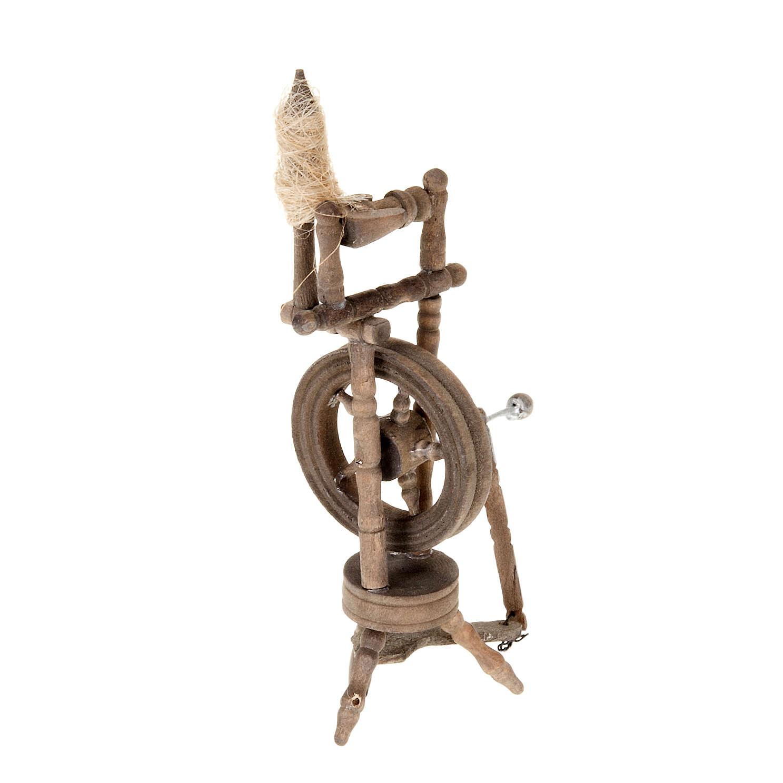 Mini rouet 10x5 cm décor crèche 4