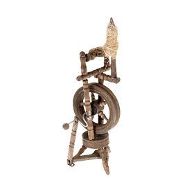 Mini rouet 10x5 cm décor crèche s1
