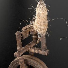 Mini rouet 10x5 cm décor crèche s3
