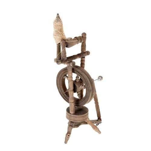 Mini rouet 10x5 cm décor crèche 2