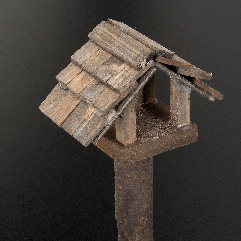 Casetta uccelli per presepe 10 cm 3