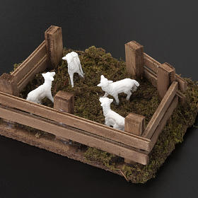 Pecore nel recinto presepe fai da te 10 cm s3