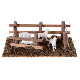 Pecore nel recinto presepe fai da te 10 cm s1