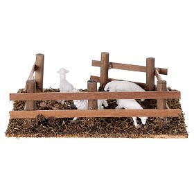 Pecore nel recinto presepe fai da te 10 cm s4