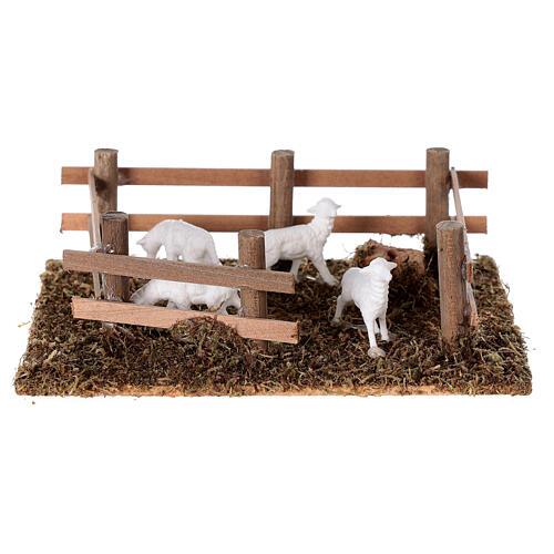 Pecore nel recinto presepe fai da te 10 cm 1