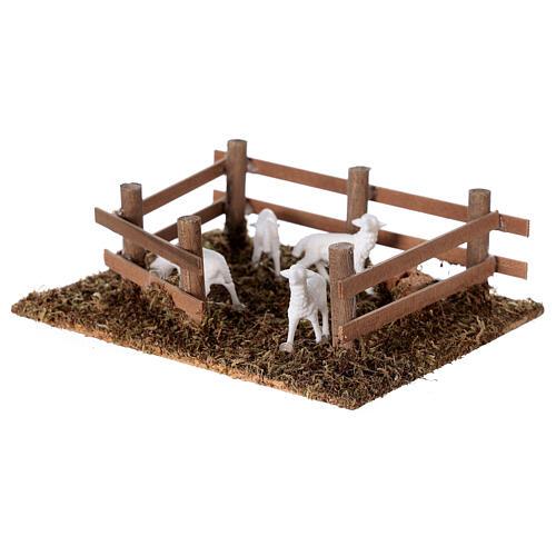 Pecore nel recinto presepe fai da te 10 cm 2