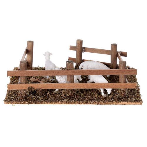 Pecore nel recinto presepe fai da te 10 cm 4