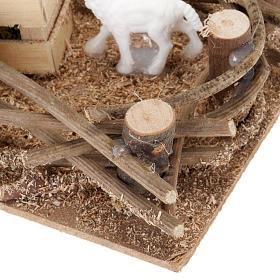 Recinto pecorelle presepe fai da te 10 cm s3